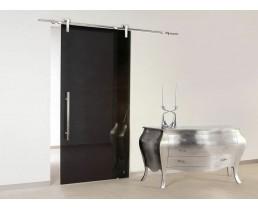 Чёрная раздвижная дверь премиум класса