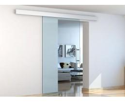 Прозрачная раздвижная дверь, дверь из стекла.