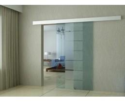 Прозрачный стеклянный дверь, раздвижная дверь