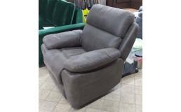 Механическое кресло-реклайнер коричневого цвета (нубук)