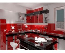 Премиум угловая кухня с крашеными фасадами