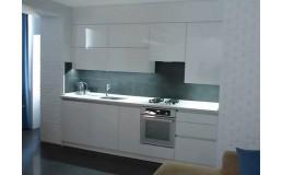 Кухня на заказ с акриловыми фасадами AGT Белый глянец, 2800 мм