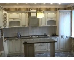 Кухня на заказ, с крашенными  фасадами МДФ. Claccic 10
