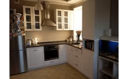 Кухня на заказ, с крашеными  фасадами МДФ. Claccik 3