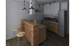 Маленькая уютная кухня на заказ в стиле Loft. Видео