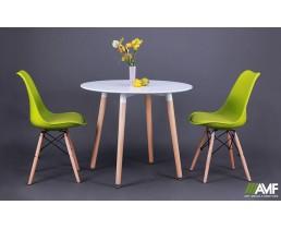 Обеденный комплект Ribes + стулья Aster Wood Green AMF