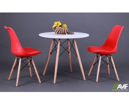 Обеденный комплект Ribes + стулья Aster Wood Red AMF