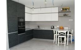 Угловая кухня с фасадами Алвик Jade серия EVORA 2696