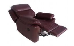 Бордовое кресло реклайнер для салона красоты
