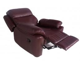 Бордовое кресло реклайнер для наращивания ресниц