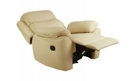 Кремовое кресло реклайнер с электроприводом для салона красоты