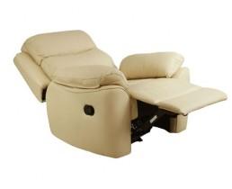 Кремовое кресло реклайнер с электроприводом для наращивания ресниц
