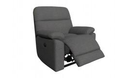 Серое кресло реклайнер с электропроводом для салона красоты. Вариант 2. Видео. 3D Обзор