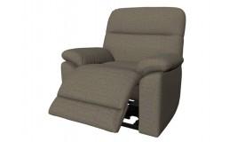 Серое-коричневое кресло реклайнер с электропроводом для салона красоты. Вариант 3. Видео. 3D Обзор