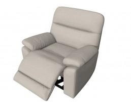 Бежевое кресло реклайнер с электроприводом для салона красоты. Вариант 5. Видео. 3D Обзор
