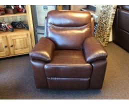 Кресло реклайнер из натуральной кожи для SPA салона с электроприводом