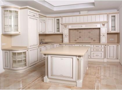 Кухня с фасадами из массива. Премиум кухня с островом. Видео.