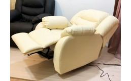 Кресло реклайнер для педикюра и наращивания ресниц (Натуральная кожа)