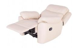 Белое электроприводное кресло реклайнер Алабама для маникюра и педикюра