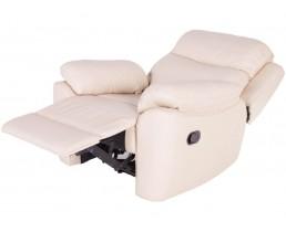 Белое электроприводное кресло реклайнер Алабама