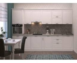 Кухня Марсель Белый шёлк