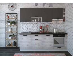 Кухня Руна Дуб полярный и Серый пепел 225