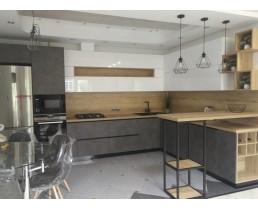 Угловая кухня на заказ в стиле Loft