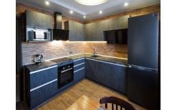Кухня Loft. Угловая кухня на заказ с фасадами Alvic